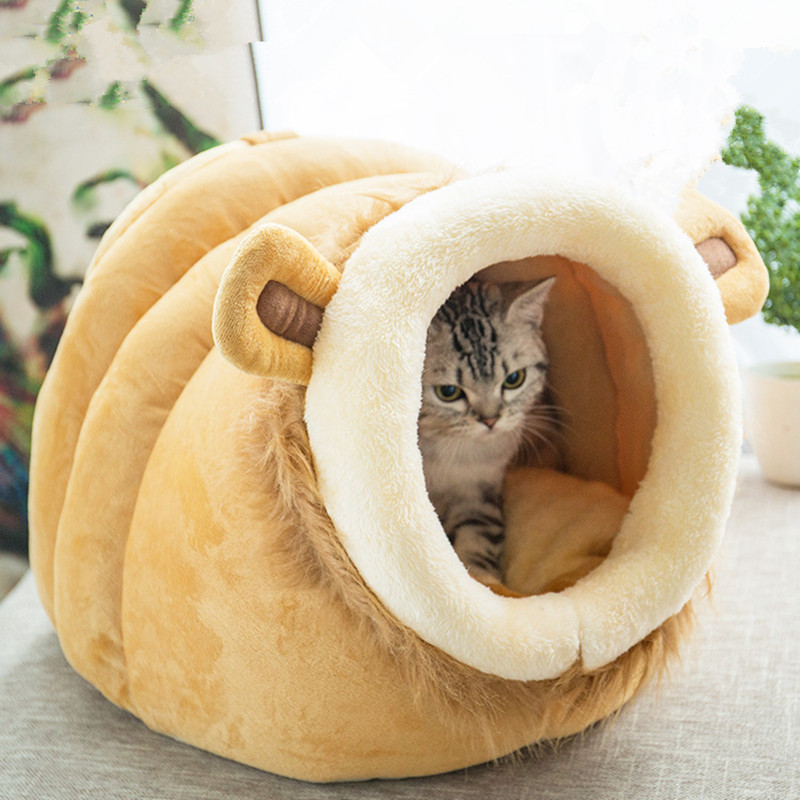 Cat Bed House Lovery Bed  Pet Puppy Nest Shell Kitten Hole House Soft Comfortable Winter Warm Dog Bed Dog House Cute Kennel Nest