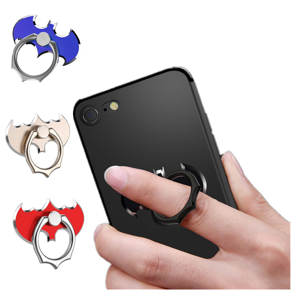 360 Degree Rotating Bat Metal Mobile Phone Holder Universal phone Ring Bracket For iPhone 6 plus ipad Table Finger Ring Holder