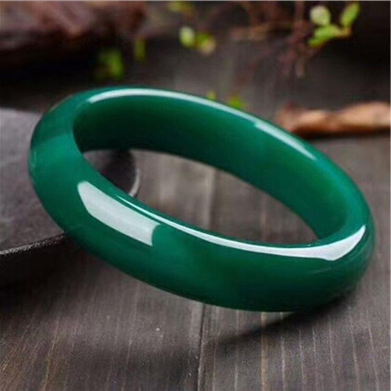Yu Xin Yuan fine jewelry natural Chalcedony Bracelets & Bangle Green National jade trendy women party jewelry цепочка на руку yuan xin sona
