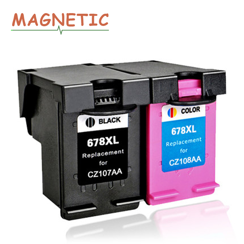 2pcs 678 Magnetic Compatible Ink cartridge for hp678 for <font><b>HP</b></font> Diskjet 2515 <font><b>3515</b></font> 1018 1518 2548 3548 4518 printer for <font><b>HP</b></font> 678 image