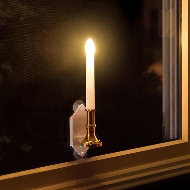 2Pcs Solar Candle Light Outdoor IP55 Solar Candle Light Super Bright Indoor  Wall Light Sensitization Home