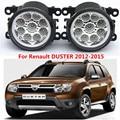 Для Renault DUSTER 2012-2015 стайлинга Автомобилей передний бампер СВЕТОДИОДНЫЕ противотуманные фары высокой яркости противотуманные фары 1 компл.