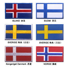 High quality Nordic countries Island Suomi Iceland Norge Danmark Sverige Sweden Finland Flag Patches badge for cloth jack(China)