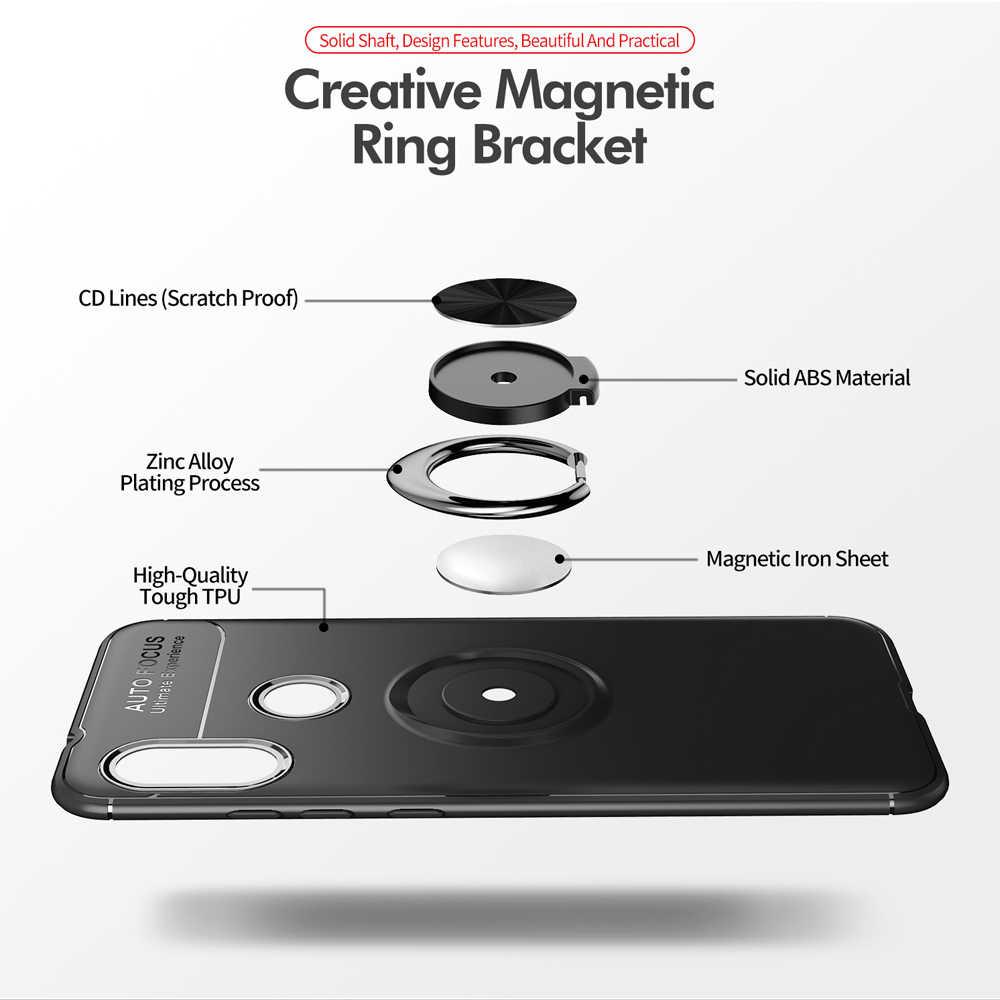 360 Anel Bracket Stand Case Magnético Para Xiao mi mi A2 Lite CC9 9 9T Macio TPU Silicone Protetora capa Para Xiao mi mi Vermelho 6 7 Pro