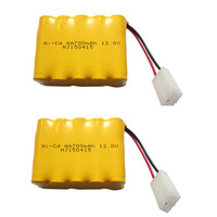 2pcs 12v Battery 700mah Ni Cd 12v Aa Battery Nicd Batteries Pack Ni Cd Rechargeable For