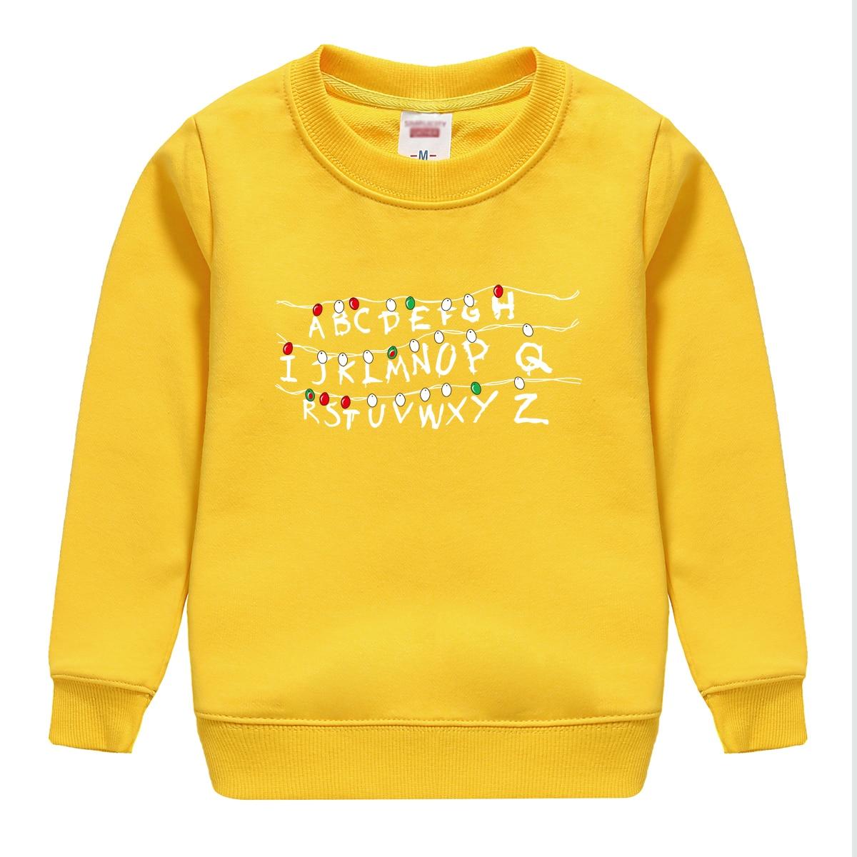 2018 hot sale STRANGE THINGS pattern printed spring autumn cotton sweatshirt baby boy hoodie clothing top soft pullover hip hop