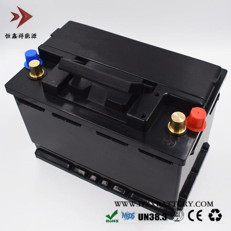 12,8 V 80AH de fosfato de hierro de litio de LiFePo4 Paquete de batería libre de mantenimiento BMS para Auto de la batería del vehículo larga vida de ciclo profundo