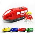 D554 produtos de qualidade transporte Livre vendem como bolos quentes magnético pequena locomotiva elétrica motorista trilho Thomas o trem de brinquedo de madeira