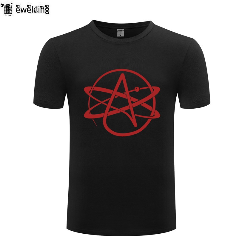 Atheist Symbol FSM Pastafarian Religion Printed Men   T     Shirt   Novelty   T     Shirts   Men Cotton Short Sleeve Tshirt Streetwear Top Tee