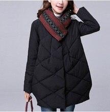 Выпуск продукта зимой 2015 года, оригинальный дизайн утолщение женщины сыпучих большой ярдов хлопка пальто