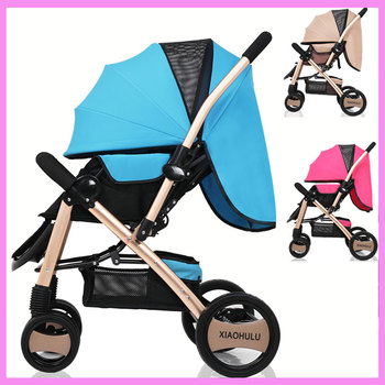 Light Baby Flat Lie Ultra Portable Folding Umbrella Stroller Car Suspension High Landspace Baby Pram Pushchair Baby Trolley 0~3Y