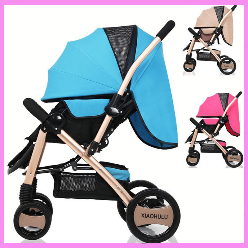 Light Baby Flat Lie Ultra Portable Folding Umbrella Stroller Car Suspension High Landspace Baby Pram Pushchair Baby Trolley 0~3Y baby stroller ultra light portable shock absorbers bb child summer baby hadnd car umbrella