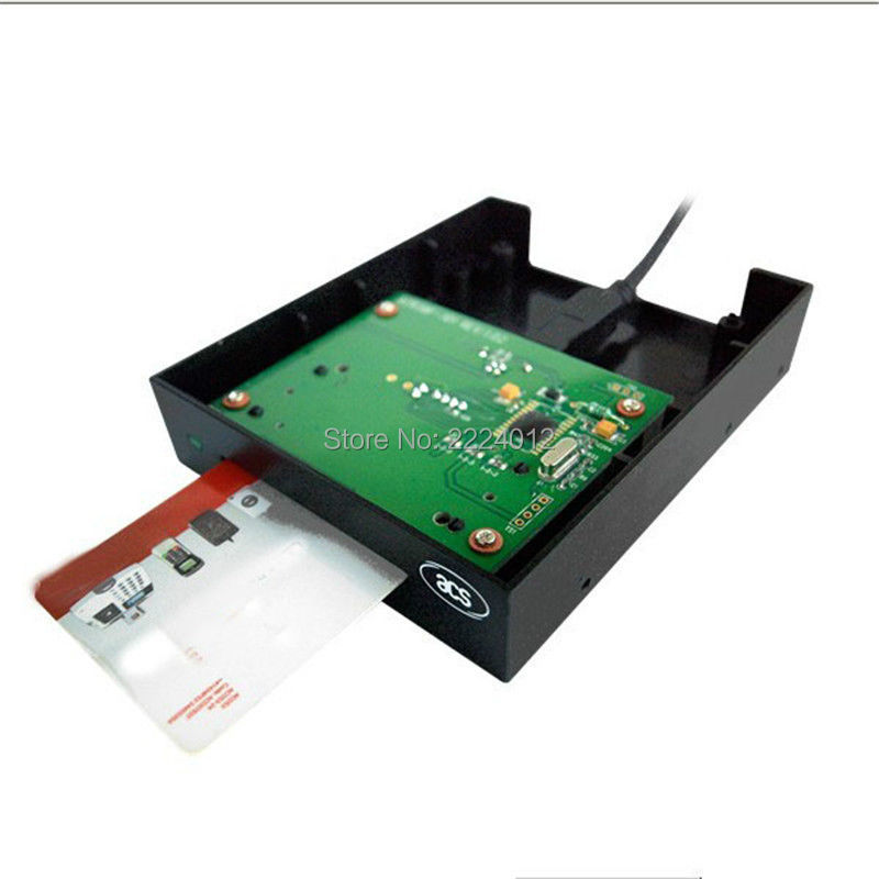 Contact Smart Floppy RFID Reader Writer # ACR38F Support ISO7816 A,B Card with SDK Kit +2PCS test Card цена
