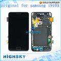 5 pcs/lot free shipping original with frame black replacement part for samsung galaxy R/Z i9103 lcd screen with touch digitizer