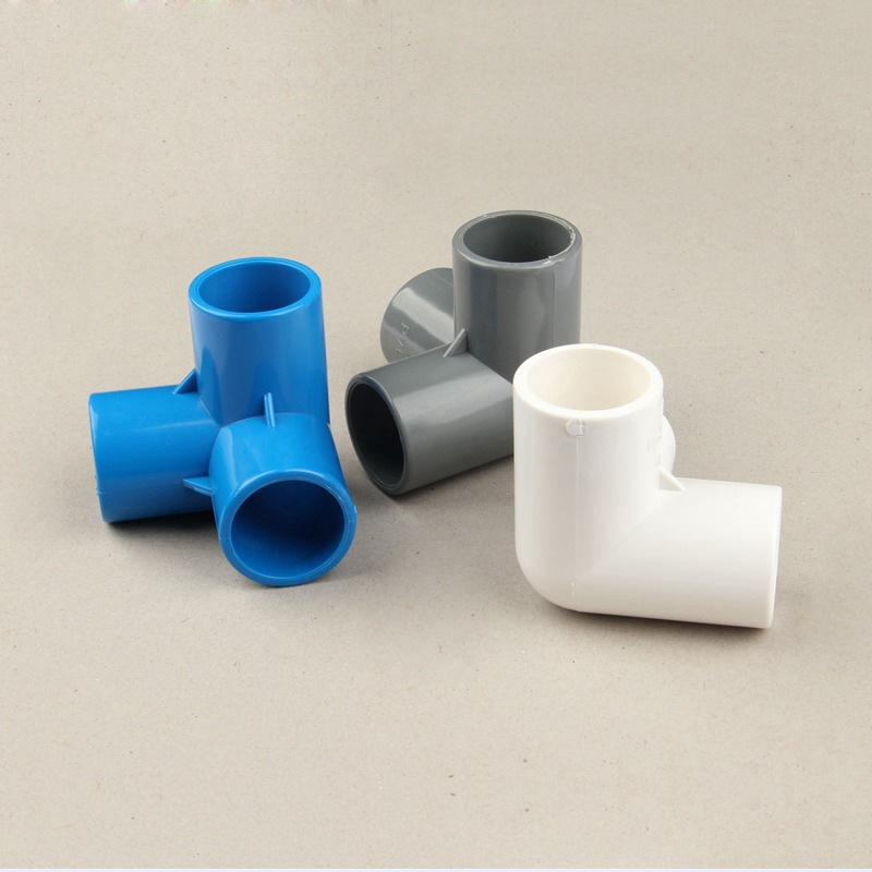 16pcs Plastic PVC 20mm Hose Tee Connector 3 Way Joint For Garden Irrigation Watering Pipe Adapter Tube Parts Tools Garden Water Connectors     - title=
