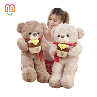 Vanmajior 70/95cm Kawaii Teddy Bear Plush Toy Peluches Stuffed Animal Toys Children Birthday Present Home Decoration