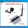 Mais novo 3G 850 MHz 850 mhz CDMA GSM Telefone Móvel Celular sinal de telefone Impulsionador Repetidor ganho 55dbi function display LCD livre shippin