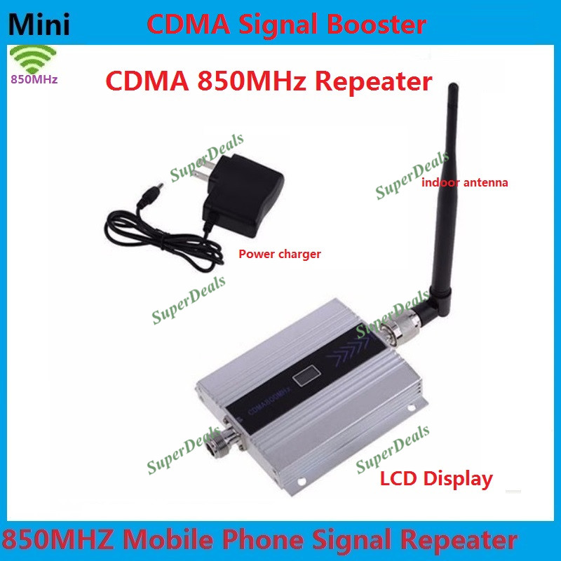 ZQTMAX 2g Gsm Cell Phone Signal Booster Cdma Repeater 55db 850 MHz LCD Display With Antenna