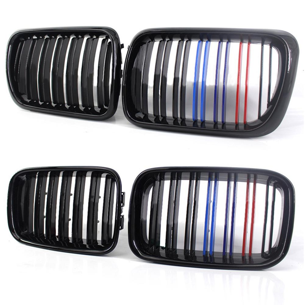 Bright Black Double Line M Shaped Grille For BMW E36 318i