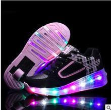 Children 27-43 teens girls and boys LED lights children's single sports shoes