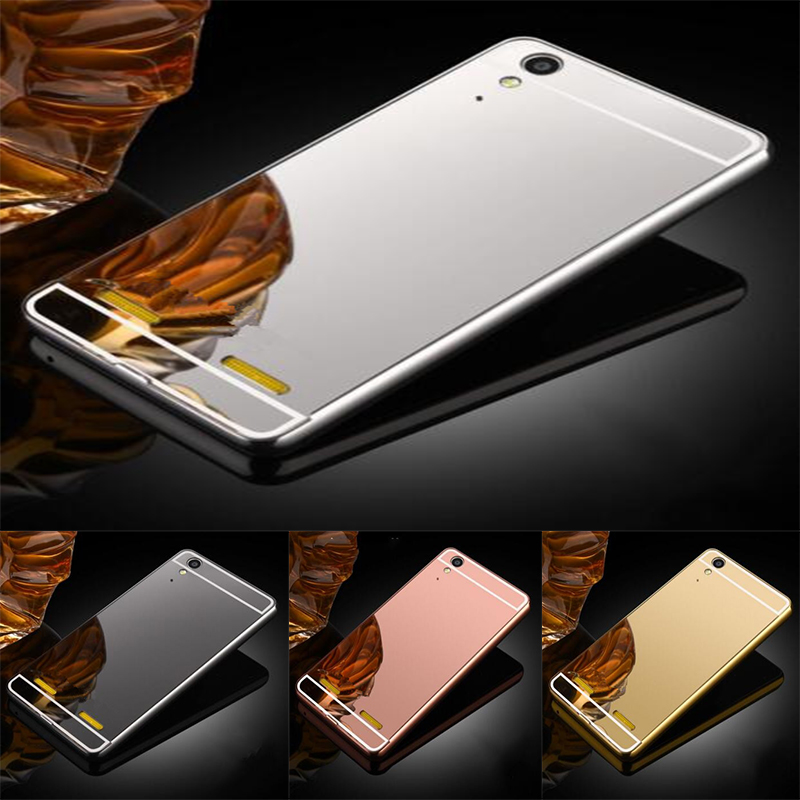 Luxury Tough Mirror Phone Case for <font><b>Lenovo</b></font> Lemon <font><b>K3</b></font> K30-T <font><b>Cover</b></font> Skin 5