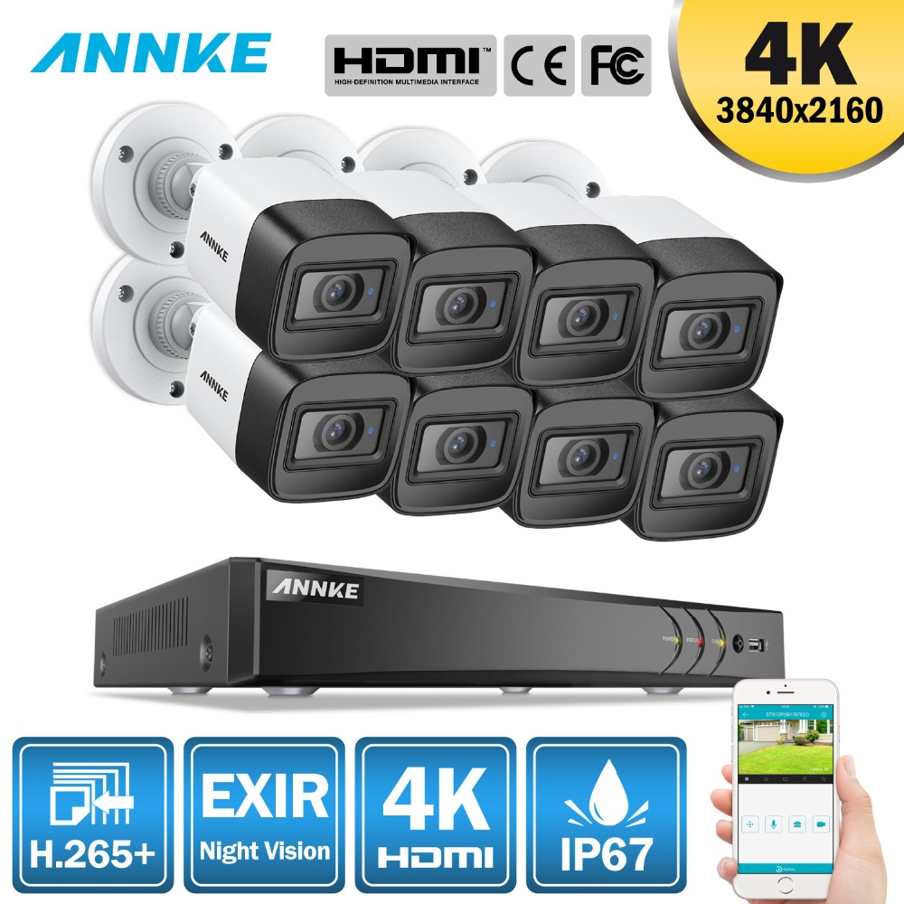 ANNKE 4K HD Ultra Clear Footage 8CH CCTV Security System 5MP 5in1 H.265+ DVR 8PCS 8MP Weatherproof Outdoor EXIR Night VisionANNKE 4K HD Ultra Clear Footage 8CH CCTV Security System 5MP 5in1 H.265+ DVR 8PCS 8MP Weatherproof Outdoor EXIR Night Vision