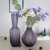 art decoration terrarium colored glass vase for decoration home decor Tabletop vases for flowers en verre green floor vase