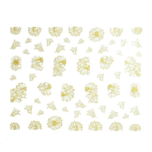 JEYL 2X Hot New Flower Nail Art Stickers Decals Decorations Hot Stamping Gold TB004