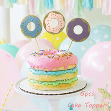 Sweet Donut Cake Topper Grow Up  Decor Baby Shower Girl Birthday Party Water Bottle Labels Strickers Supplies
