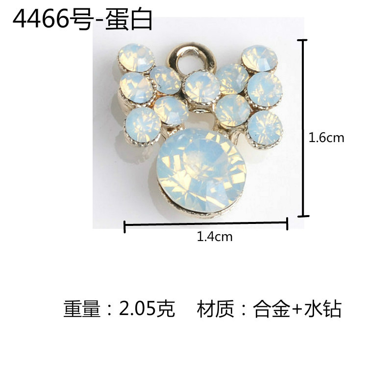 Image 4 - Wholesale 50PCs Imitation Crystal Pearl Alloy Flower Charm Pendants for Girls Ornament Accessories Fashion Jewelry DIY-in Charms from Jewelry & Accessories
