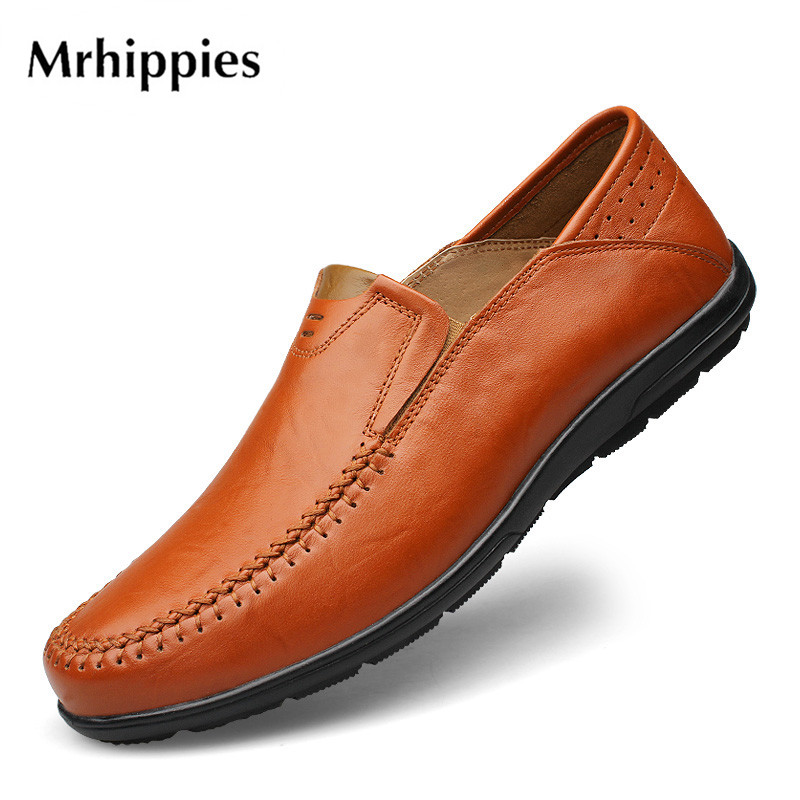 mrhippies 2017 Summer Luxury Driving Breathable Genuine Leather Flats Loafers Men Shoes Casual Fashion Slip On Size 37-47 #23416 big size 39 48 men flats summer genuine leather loafers breathable driving shoes moccasines slip on male casual shoes xk032808