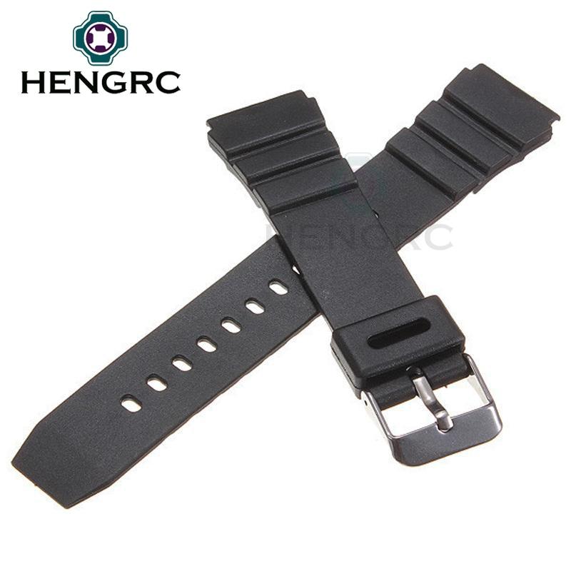 HENGRC Pulseiras de borracha 18 20 22mm Homens Esporte Mergulho - Acessórios para relógios - Foto 5