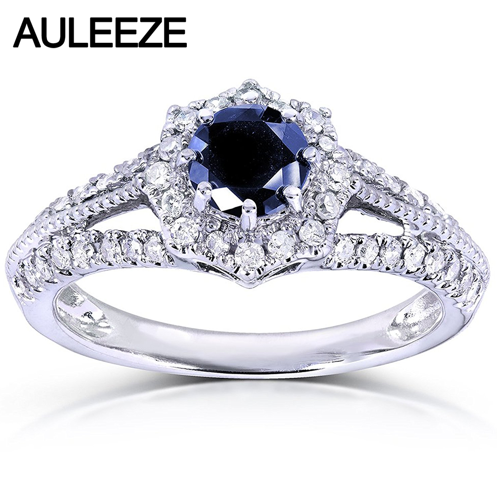 Vintage 08 Carat Sapphire Elegance Floral Ring In 14k 585 White Gold Natural  Sapphire Engagement Rings