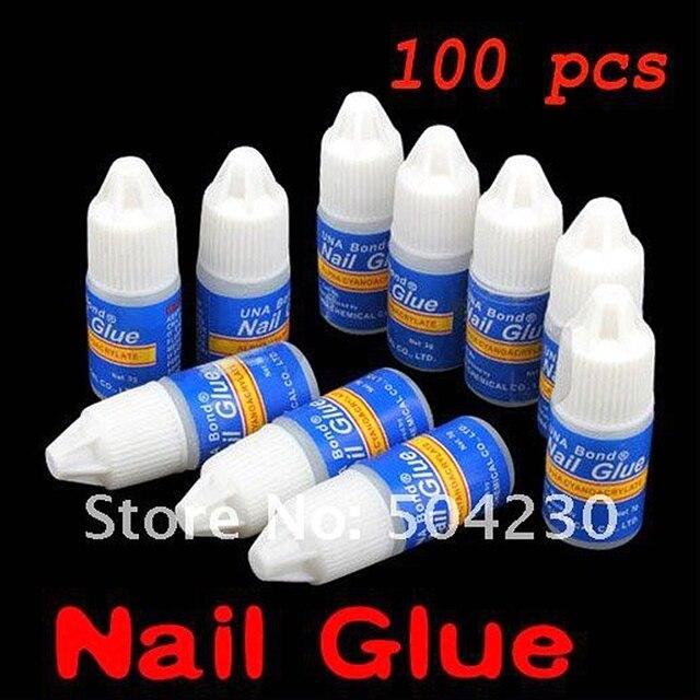 100 x 3g PRO Acrylic Nail Art Glue Gel For French Art False Tips nail art decoration kit  Wholesale