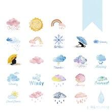 46PCS/PACK Kawaii Cute Weather Rainbow Sticker Marker Planner Diary Stickers Scrapbooking School Supplies Bullet Journal SL1286