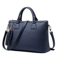 New Genuine leather Women briefcase large capacity computer handbag business shoulder bag ladies laptop messenger crossbody bags
