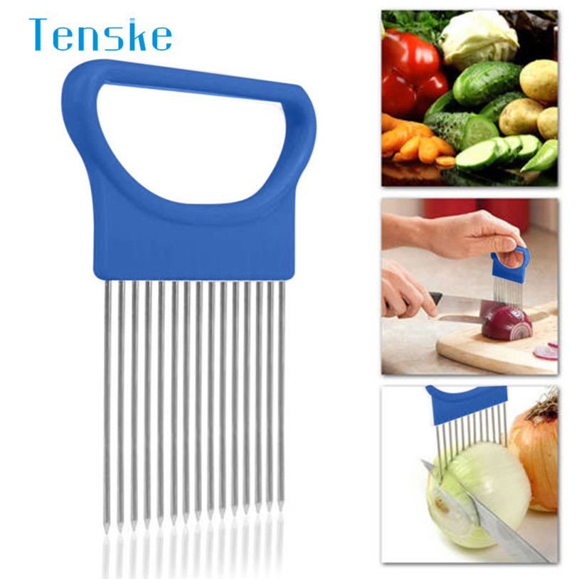 Convenient Kitchen Cooking Tool Onion Tomato Vegetable Slicer Cutting Aid Guide Holder Fruit Slicing Cutter Gadget u70509 LE2