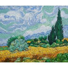 Холст для рукоделия art online Винсента Ван Гога масляными красками пейзажи пшеничное поле высокого качества для домашнего декора