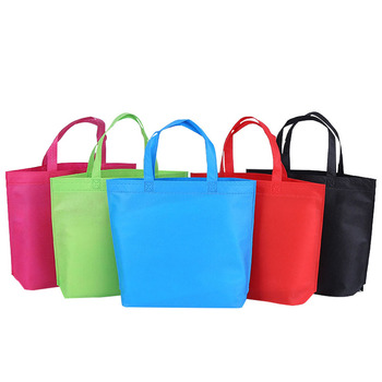 1PC Nonwoven Reusable Shopping Bag Fabric Bags Folding Eco Tote Bag Handbag For promotion/Gift/shoes/Christmas Grocery Bags Shop Shopping Bags