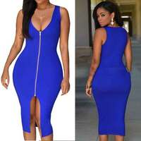 HOT 2016 Sexy Dress Women Party Dresses Bodycon Sundress Package Hip Blue Red White Black Midi Summer Plus Size S-4XL Dress