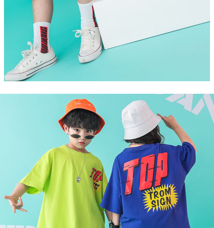 Kid clothes girl Boy set Summer 2019 4 6 8 10 12 14 Years Hip Hop T shirt Pants dance costumes kids boys Girls young clothes (8)