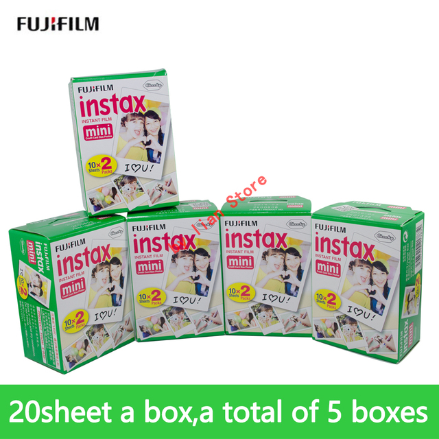 Original Fujifilm Instax Mini 8 Film 100 pcs White Edge Photo Papers For Instax film 9 7s 8 90 25 55 Share SP-1 Instant film
