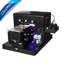 New A4 small size UV Printer Flatbed Printer with emboss effect for Phone Case Printer, wooden, leather, ABS,TPU,printer