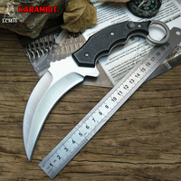 LCM66 Karambit Scorpion Tactical Claw Knife Outdoor Camping Jungle Survival Battle Fixed Blade Hunting Knives Self