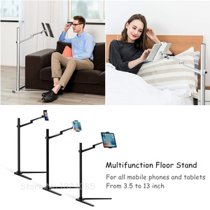 Image 3 - Tablet Floor Stand, Height Adjustable Aluminum Holder Support 3.5~6 Phone and 7~13 Tablet for iPhone iPad Air Mini Pro Stand