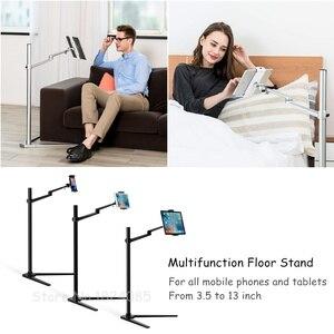 Image 3 - Tablet Floor Stand, höhe Einstellbar Aluminium Halter Unterstützung 3.5 ~ 6 Telefon und 7 ~ 13 Tablet für iPhone iPad Luft mini Pro Stand