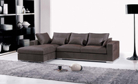 Furniture Fabric Design 2013 New Living Room L Shaped Fabric Corner Sofa Modern Fabric Sectionals F9062