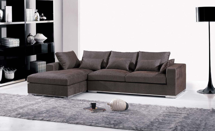 Free Shipping Furniture Fabric Design 2013 New Living Room L Shaped Corner Sofa Modern Sectionals F9062