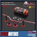 Red mulisha fat bar 28mm kit handlebar clamps grips pad motorcycle dirt pit bike irbis XR CR CRF CRM 50 80 125 150 200 250 400