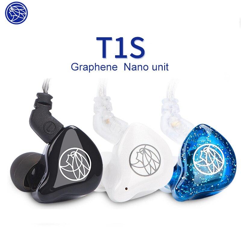 Nouvelle mise à niveau des écouteurs Hifi TFZ T1s, écouteurs de moniteur dynamiques personnalisés de 3.5mm, câble Non modifiable, unité de deuxième génération d'utilisation